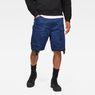 G-Star RAW® Rovic Zip Loose 1/2 Length Shorts Donkerblauw model front