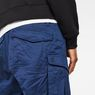 G-Star RAW® Rovic Zip Loose 1/2 Length Shorts Dark blue model back zoom