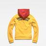 G-Star RAW® Lynaz Hooded Sweat Yellow flat back