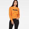 G-Star RAW® Xula New Art Sweater Orange model front