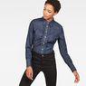 G-Star RAW® Tacoma Clean Slim Frill Shirt Dark blue