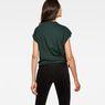 G-Star RAW® Zajla Knotted Straight T-Shirt Green model back