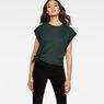 G-Star RAW® Zajla Knotted Straight T-Shirt Green model front