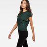 G-Star RAW® Zajla Knotted Straight T-Shirt Green model side