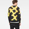 G-Star RAW® Bumble Frog Stalt Deconstructed Sweater Yellow model back