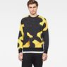 G-Star RAW® Bumble Frog Stalt Deconstructed Sweater Yellow model front