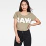 G-Star RAW® Seranie Straight T-Shirt Green model front