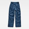 G-Star RAW® Bristum Pleated Wide Leg Chino Medium blue flat front