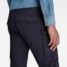 G-Star RAW® Rovic Zip 3D Straight Tapered Pants Dark blue model back zoom