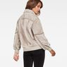 G-Star RAW® Deline Teddy Reversible Bomber Beige model back