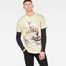 G-Star RAW® Cyrer Earth Loose T-Shirt Beige model front