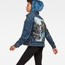 G-Star RAW® D-Staq RFTP Water 3D Deconstructed Jacket Medium blue model side