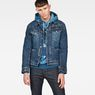 G-Star RAW® D-Staq RFTP Water 3D Deconstructed Jacket Medium blue model back