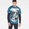 G-Star RAW® Cyrer Water Loose T-Shirt Medium blue model front