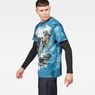 G-Star RAW® Cyrer Water Loose T-Shirt Medium blue model side