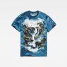G-Star RAW® Cyrer Water Loose T-Shirt Medium blue flat front