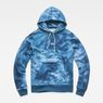 G-Star RAW® Cyrer Water Hooded Sweat Medium blue flat front