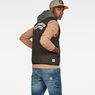G-Star RAW® Blake Quilted Vest Zwart model back