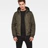 G-Star RAW® Whistler Meefic Hooded Quilted Bomber Grey model front