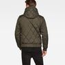 G-Star RAW® Whistler Meefic Hooded Quilted Bomber Grey model back