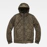 G-Star RAW® Whistler Meefic Hooded Quilted Bomber Grey flat front
