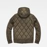 G-Star RAW® Whistler Meefic Hooded Quilted Bomber Grey flat back