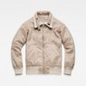 G-Star RAW® Deline Teddy Reversible Bomber Beige flat back