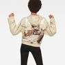 G-Star RAW® Cheiri Earth Relaxed Cropped Hooded Sweat Beige model back