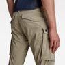 G-Star RAW® Rovic Zip 3D Straight Tapered Pants Beige model back zoom