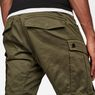 G-Star RAW® Rovic Zip 3D Straight Tapered Pants Green model back zoom