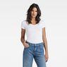 G-Star RAW® Base V-Neck Cap Sleeve T-Shirt White model front