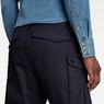 G-Star RAW® Rovic Zip Relaxed 1/2-Length Shorts Dark blue model back zoom