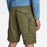 G-Star RAW® Rovic Zip Relaxed 1/2-Length Shorts Green model back zoom