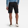 G-Star RAW® Rovic Zip Loose 1/2-Length Shorts Black model back
