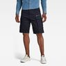 G-Star RAW® Rovic Zip Relaxed 1/2-Length Shorts Dark blue model front