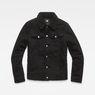 G-Star RAW® 3301 Slim Sherpa Jacket Zwart flat front