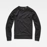 G-Star RAW® Core Sidezip Sweat Black flat front