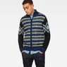 G-Star RAW® Rib Jacquard Zip Through Knit Medium blue model front