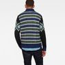 G-Star RAW® Rib Jacquard Zip Through Knit Medium blue model back