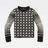 G-Star RAW® Jacquard Knit Black flat front