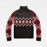 G-Star RAW® Sangona Jacquard Turtle Knit Black flat back