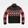 G-Star RAW® Sangona Jacquard Turtle Knit Black flat front