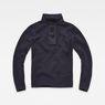 G-Star RAW® Bantson Zip Knit Dark blue flat front