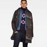 G-Star RAW® Jayvi Diamond Jacquard Turtle Knit Dark blue creative shot