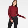 G-Star RAW® Lynn Mock Turtle Knit Red model front