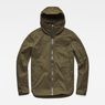 G-Star RAW® Batt Hooded Overshirt Green flat front