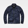 G-Star RAW® Deline Track Overshirt Dunkelblau flat front