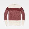 G-Star RAW® Block Stripe Knit Red flat front