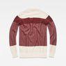 G-Star RAW® Block Stripe Knit Red flat back