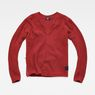 G-Star RAW® Vee Knit Red flat front